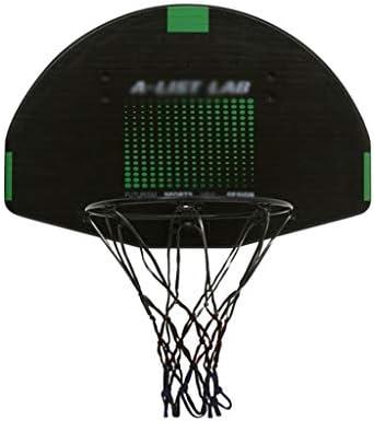 ティーンエイジャーのためのバスケットボールフープ、ホームレスパンチングバスケットボールフープ、屋内と屋外の子供のバスケットボールネット、ファミリー親子活動を壁掛け (Color : Black, Size : 41*61cm)