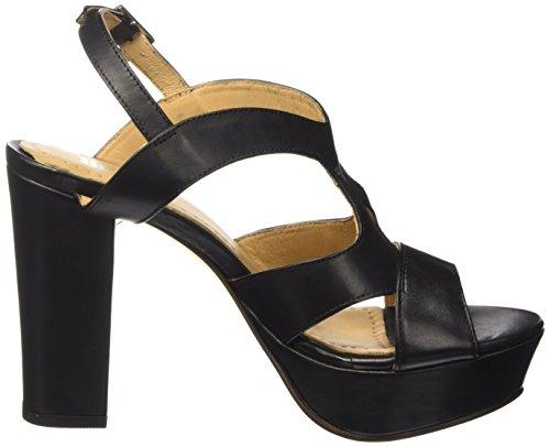 BPrivate E0802x - Sandalias de tacón Mujer Negro