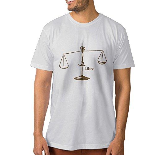 Zodiac Symbols Libra Men Short Sleeve T-shirt T Shirt L (Robert Best Project Runway)