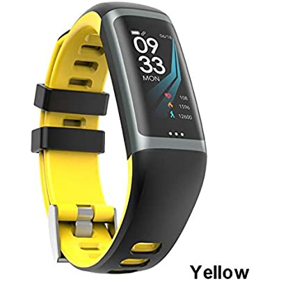 ZCPWJS smart wristband G26 Smart Bracelet P67 Waterproof Heart Rate Blood Pressure Oxygen Fitness Bracelet Multi Sport Mode Smart Wristband Yellow Estimated Price £39.25 -