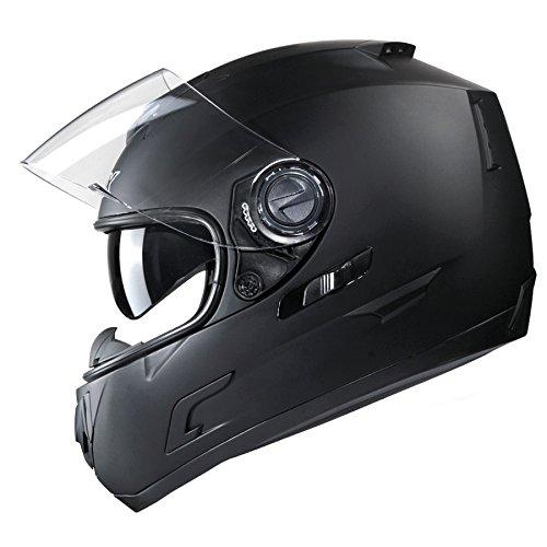 GLX Unisex-Adult GX15 Lightweight Full Face Motorcycle Street Bike Helmet