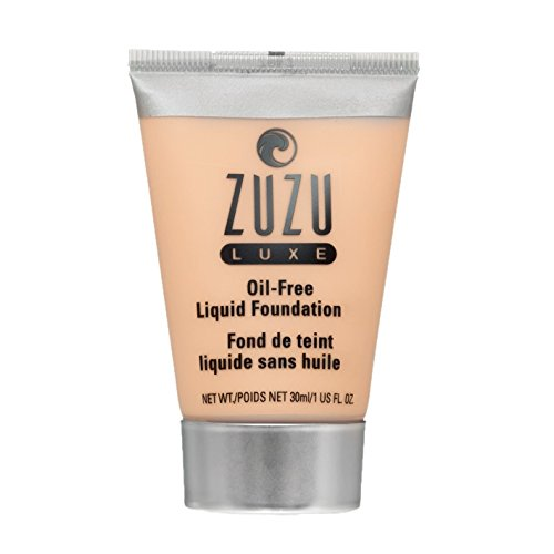 Zuzu Luxe,Oil Free Liquid Foundation (L-6),1 fl oz,Infused with vitamins A,E, aloe to keep skin supple and resilient. Natural, Paraben Free, Vegan, Gluten-free, Cruelty-free, Non GMO.
