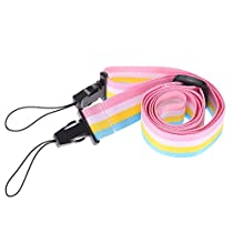Andoer Colorful Rainbow Camera Neck Strap Adjustable Comfortable for Fujifilm Instax Mini 8 70 Instant Film Camera