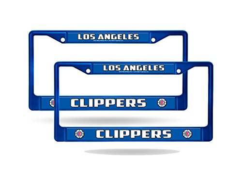 Rico Los Angeles Clippers Blue Painted Chrome Metal (2) License Plate Frame ()