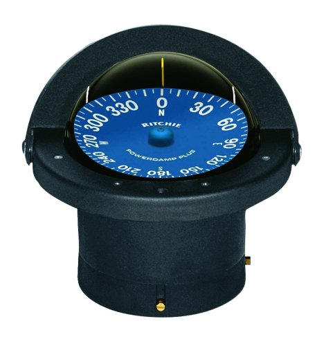 SS-2000 Ritchie Navigation Supersport Compass 4 1/2-Inch Dial with Flush Mount (Black) by Ritchie