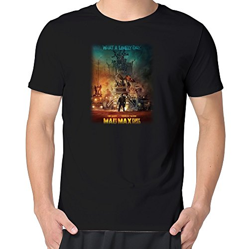 Popular Movie Mad Max: Fury Road Poster T-shirt Mens Black