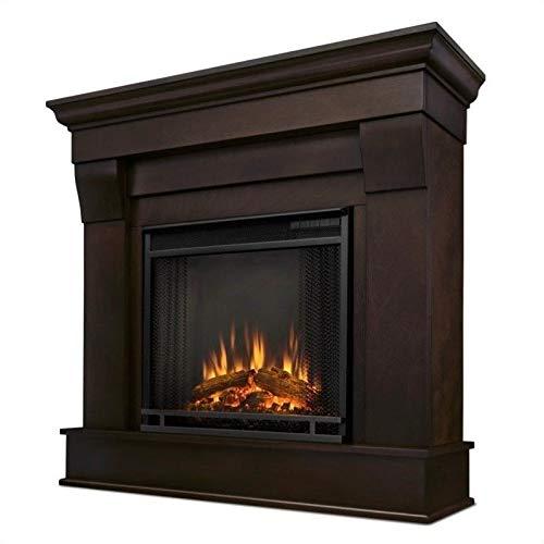 - Real Flame 5910E-DW Chateau Fireplace, Small, Dark Walnut