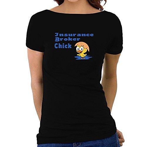 Eddany Insurance Broker chick Women Boat Neck T-Shirt
