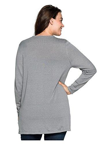 sheego BASIC Cardigan tallas grandes liso Mujer gris