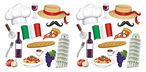 Beistle 53534 Italian Photo Fun Signs, 30 Piece, 7.25