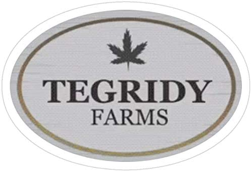 Tegridy farms Large single Decal Farming with Tegridy Sticker
