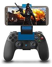 Manette pour Android iOS Sans Fil, Maegoo Bluetooth Mobile de Jeu Manette Gamepad Joystick avec Support Rétractable pour iOS(11.3-13.3 Version) iPhone iPad Android Téléphone Tablette