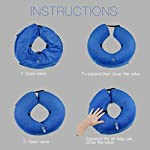 MorTime Protective Inflatable Collar for Dogs and Cats Adjustable Soft Pet Recovery Collar - Does Not Block Vision 12