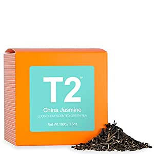 T2 Tea China Jasmine Loose Leaf Green Tea in Box, 3.5 Ounce (100g)