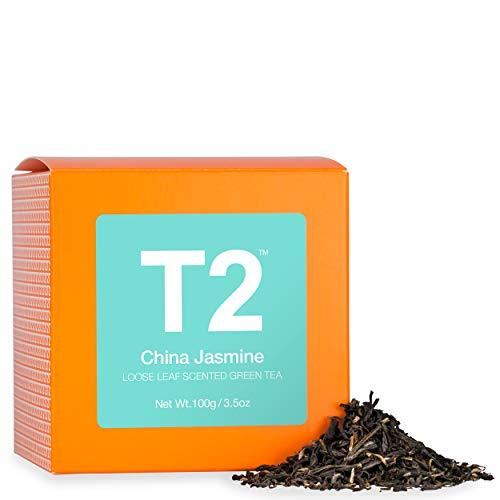 T2 Tea - China Jasmine Scented Green Tea, Loose Leaf Green Tea in a Box, 100g (3.5oz) (Best Jasmine Tea In The World)