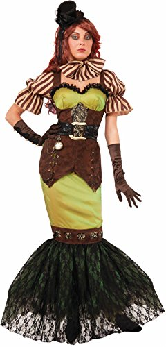 [Forum Novelties Women's Steampunk Fairytales Siren Costume, Green/Brown, X-Small/Small] (Punk Fairy Costumes)