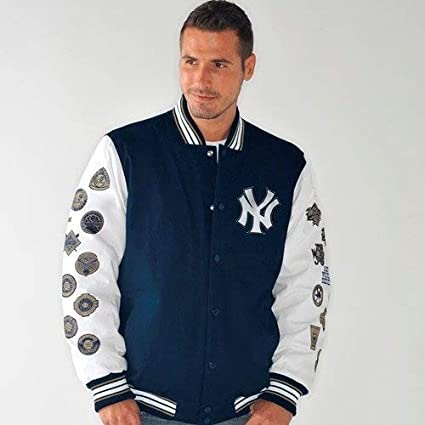 New York Yankees Box and 1 World Series Champs Commemorative Canvas Jacket  XXXXX-Large cdff44ffb