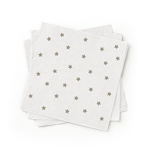 Susty Party SPNPCTGRY 100-Percent Recycled Paper Cocktail Napkin, Grey, 200-Pack]()