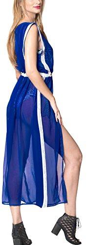 A Leela Mujeres La Las Verano Mantón Cubre Del b478 Gasa Cubierta De Rebeca Kimono Azul Largo Llanura Que Superior Sólida TqwqSgB