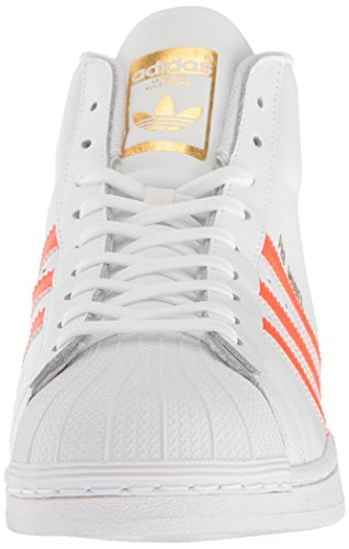 Adidas Heren Pro Model Fashion Sneakers Wit / Energie Oranje Metallic / Goud