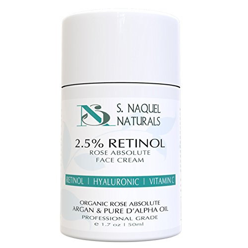 Organic Retinol Moisturizer Face Cream - by NaQuel Naturals | Advanced Anti Aging Formula For Dry Skin | 1.7 oz