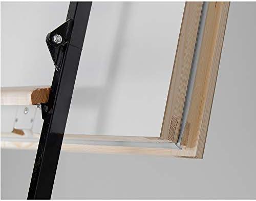Escalera de suelo Mini Polar, escalera de almacenamiento, 110 x 70, escalera de metal, pasamanos W/M2*K - 0,36, bajo consumo: Amazon.es: Bricolaje y herramientas