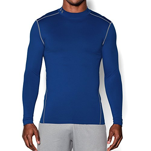 Under Armour Men's ColdGear Armour Compression Mock Long Sleeve Shirt, Royal /Steel, XXX-Large by Under Armour (Image #4)
