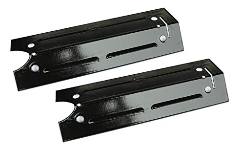 Hongso PPI421 (2-pack) Porcelain Steel Heat Plate, Burner Cover, and Flavorizer Bar Replacement for Gas Grill Model Brinkmann 810-4220-S, 810-4220 (15'' x 4 13/16'') by Hongso