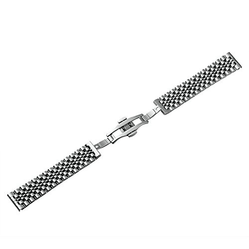 Stainless Steel Watch Band Strap 22mm 20mm 18mm Metal Business Replacement Bracelet Strap Silver/Rose Gold/Gold Chimaera by CHIMAERA (Image #1)