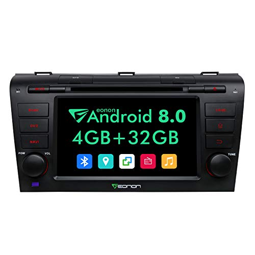 - Eonon Android 8.0 Car Stereo Radio 4GB RAM +32GB ROM Octa-Core 7 Inch in Dash Touch Screen Car Radio Applicable to Mazda Speed 3 2004,2005,2006,2007,2008 and 2009 Support WiFi,Fastboot-GA9151A