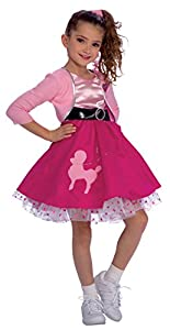 50s Girl Costumes, 50s Girl's Dresses Rubies Fifties Girl Childs Costume Small $25.75 AT vintagedancer.com
