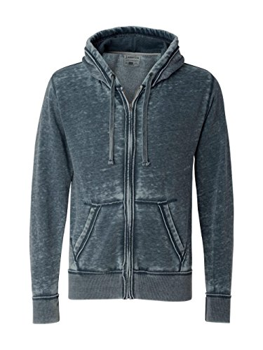 J America Vintage Zen Full-Zip Fleece Hood, XL, VINTAGE NAVY - Vintage Zip