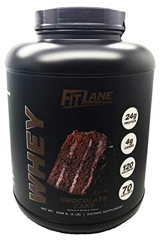 Low Carb Whey Protein Shake. Best Tasting Protein Powder for Men and Women. Protein Whey by Fit Lane Nutrition 5 lbs Chcoolate Flavor