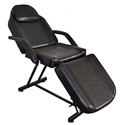 Professional Salon Barber Chair , Adjustable Massage Beauty Salon Bed with Hydraulic Stool Barber Facial Tattoo Chair Equipment Black