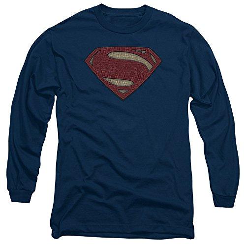 Trevco Men's Batman V Superman Super Movie Logo Long Sleeve Adult T-Shirt at Gotham City Store