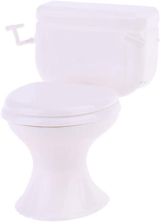 Dollhouse Miniature Furniture Vintage Bathroom Model White Toilet Baby Pretend