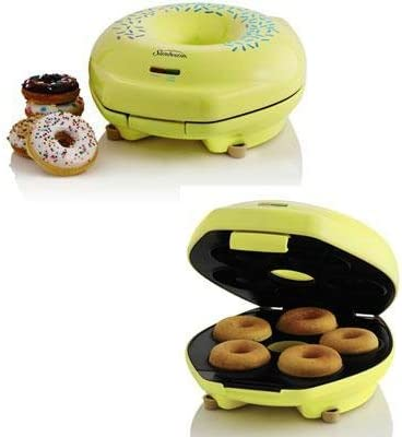 Jarden Sunbeam Donut Maker Yellow Unique Designed Donut Shapes Power on Ready Indicator Lights