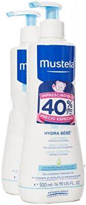 Mustela Hydra-Bebe Leche Corporal Pack de 2 de 500ml: Amazon.es: Bebé