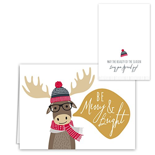 Woodland Animals Holiday Card Pack - Set of 36 cards - 6 of each design, versed inside with envelopes Photo #2