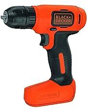 Black+Decker 7.2V Li-Ion Cordless Electric Compact Drill Driver for Screwdriving & Fastening, Orange/Black - BDCD8-B5, 2 Years Warranty