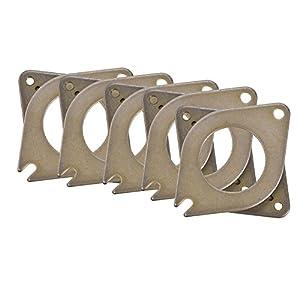 fosa Stepper Motor Vibration Damper, 5pcs 3D Printer Parts Metal Shock Absorber Damper Gasket for 42 Step Motors from fosa