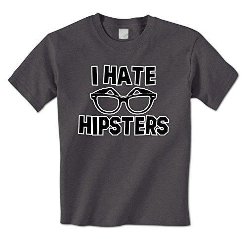 I Hate Hipsters - Hipster Glasses Brooklyn Funny Millennial Meme Mens T-Shirt (Medium - Glasses Hate Hipster I