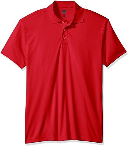 Lee Uniforms Men's Short Sleeve Sport Polo, Red, M Flats Short Sleeve Shirt