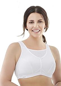 Glamorise Women's No Bounce Full Support Sport Bra,White,38C