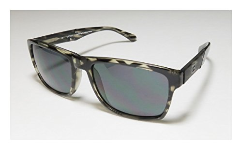 Guess 6756 Mens Designer Full-rim 100% UVA & UVB Lenses Sunglasses/Eyewear (59-18-140, Transparent Greenesh Gray - Rims Full Moon