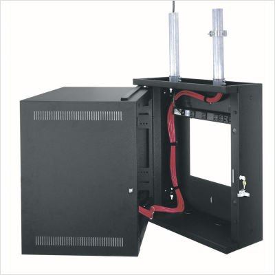 (EWR Series Wall Cabinet with Solid Door Rack Spaces: 8U Spaces, Depth: 17