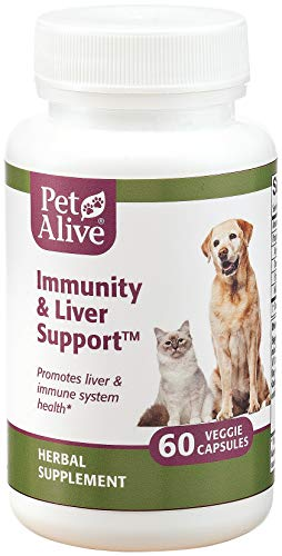 PetAlive Immunity and Liver Support - 60 Veggie Caps