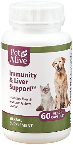 PetAlive Immunity and Liver Support -- 60 Veggie Caps
