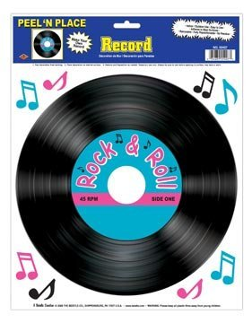 Beistle 55407 Record Peel 'N Place Party Decorations, 12-Inch by 15-Inch (Halloween Themed Sheet Music)