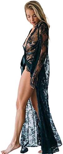 Frauit bikinicoverup strandblouse voor dames met opengewerkte gebreide lange cardigan zomer vrouwen badpak bedekking badkleding